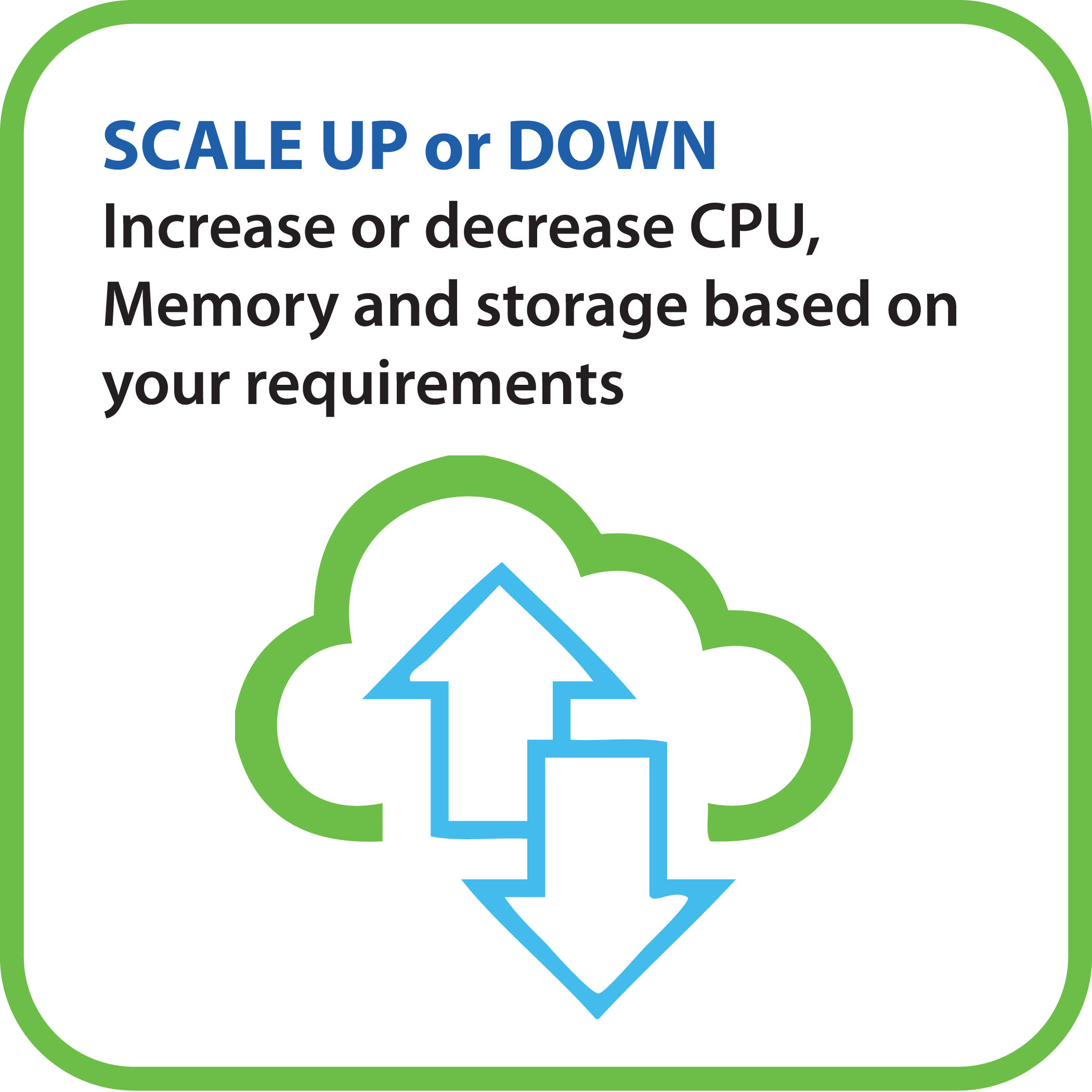 Scale up or Down