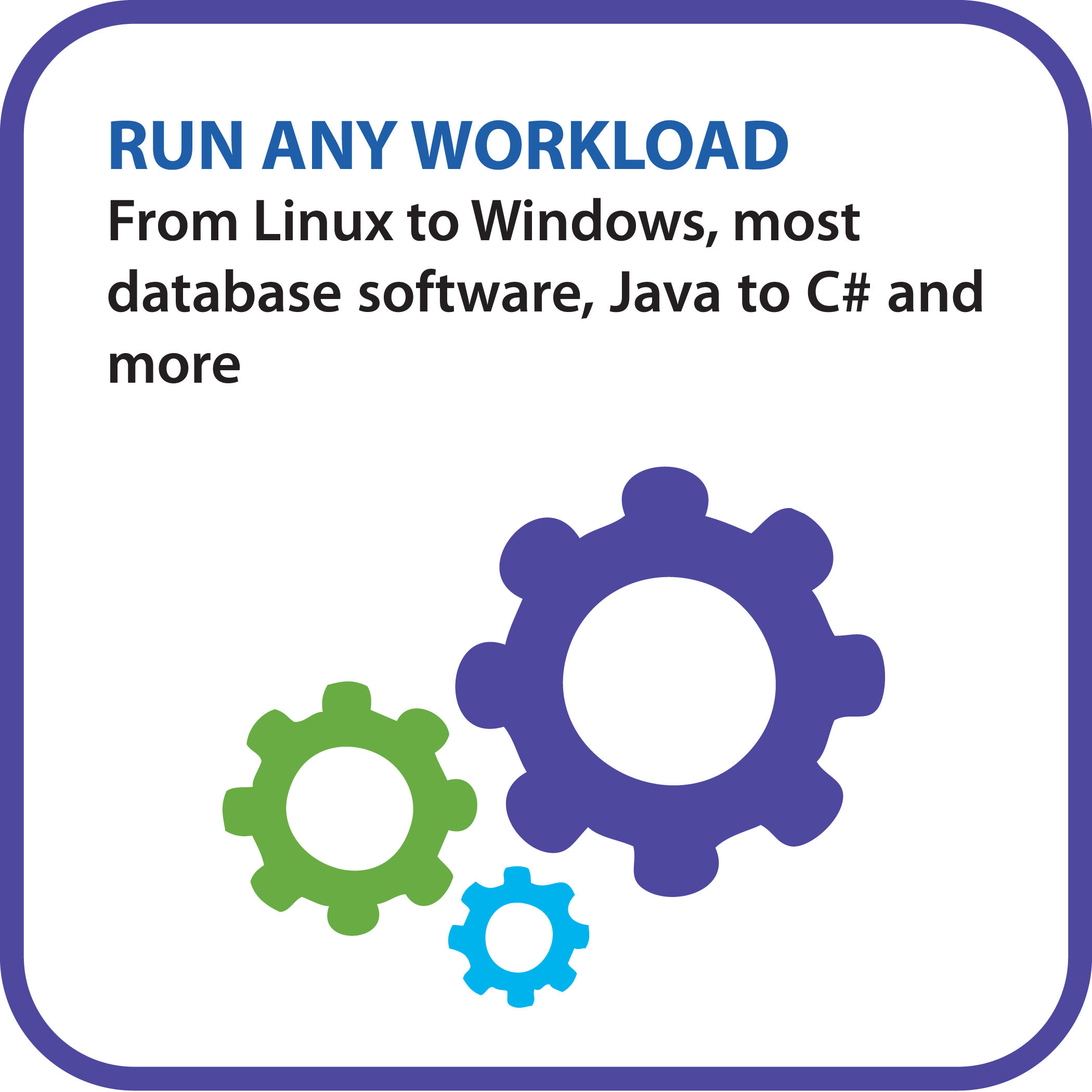 Run any workload